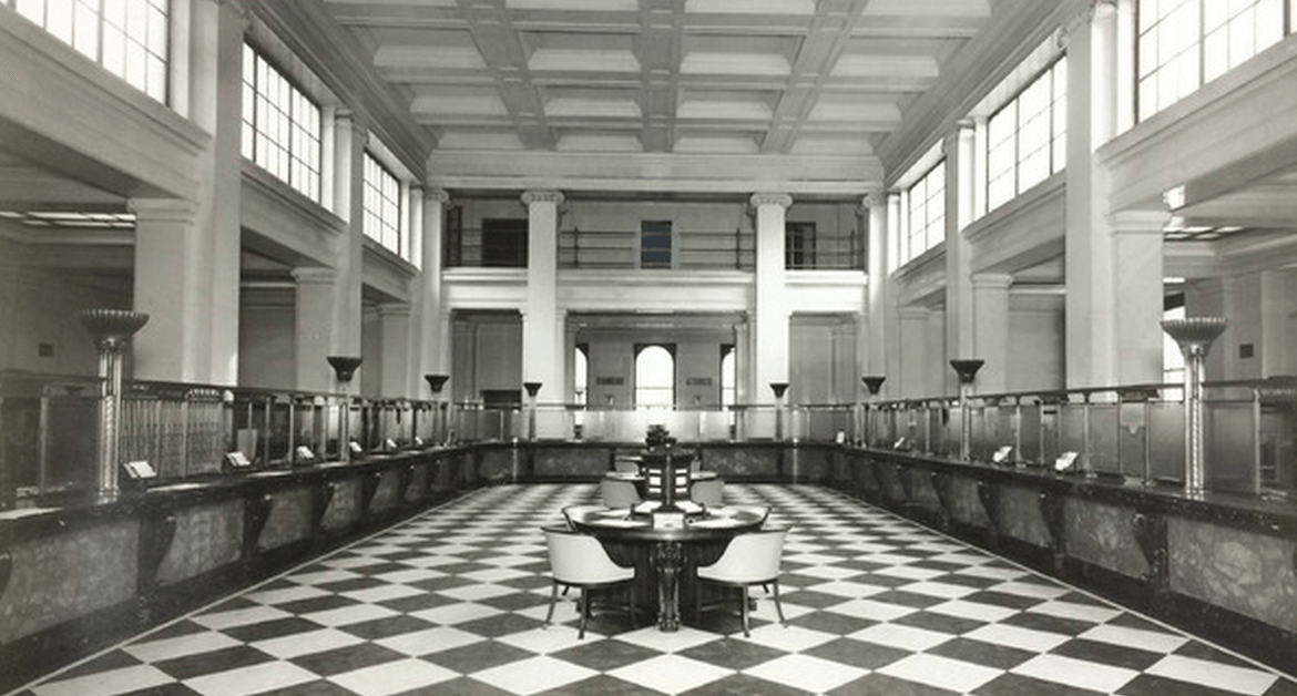 Art Deco Bank.60m Restoration Proposed For Classic Art Deco Banking Hall