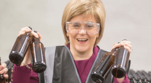 Sturgeon and beer