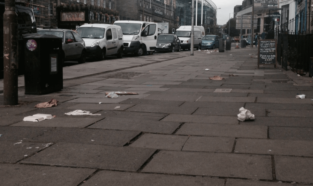 Leith Walk litter 1