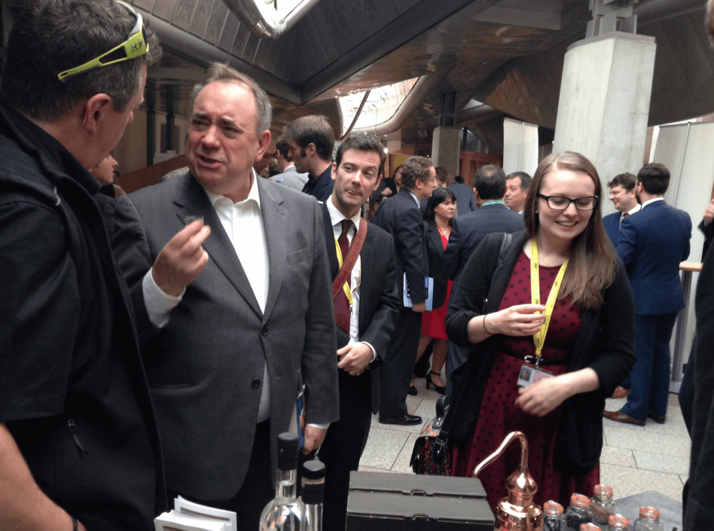 Salmond at distillers event