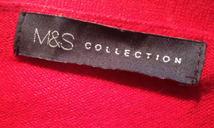 M&S label