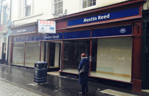 Austin Reed, Perth. One of the outlets that closed (photo by Terry Murden)