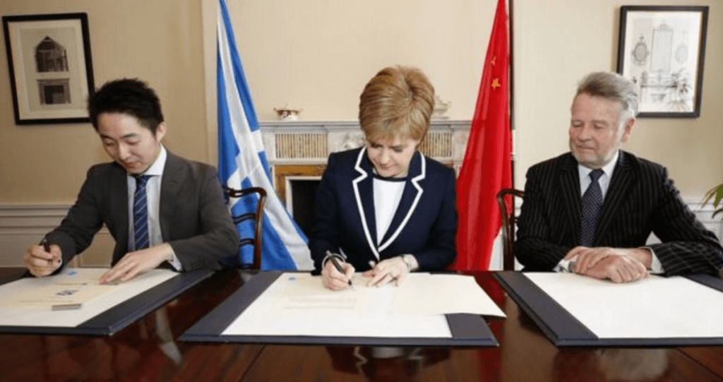 Sturgeon signs China deal