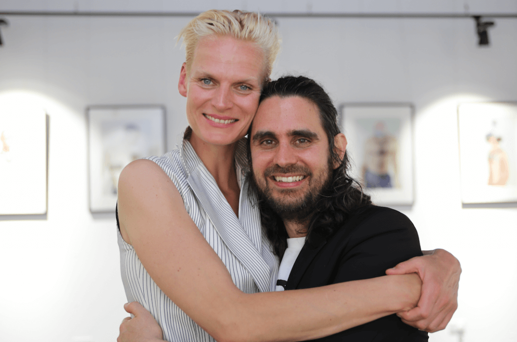 Anna Freemantle-Zee and Gianni Scumaci at the opening of the Festival (pic: by Terry Murden)