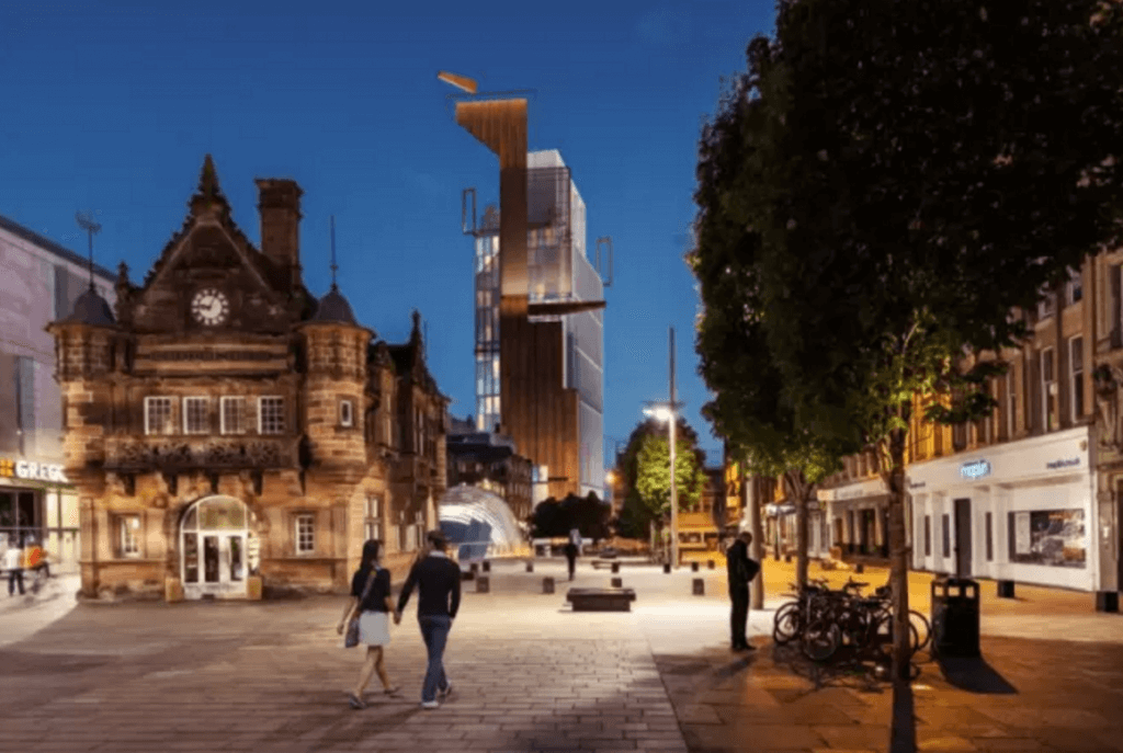 Proposed hotel viewed from St Enoch square (contributed)