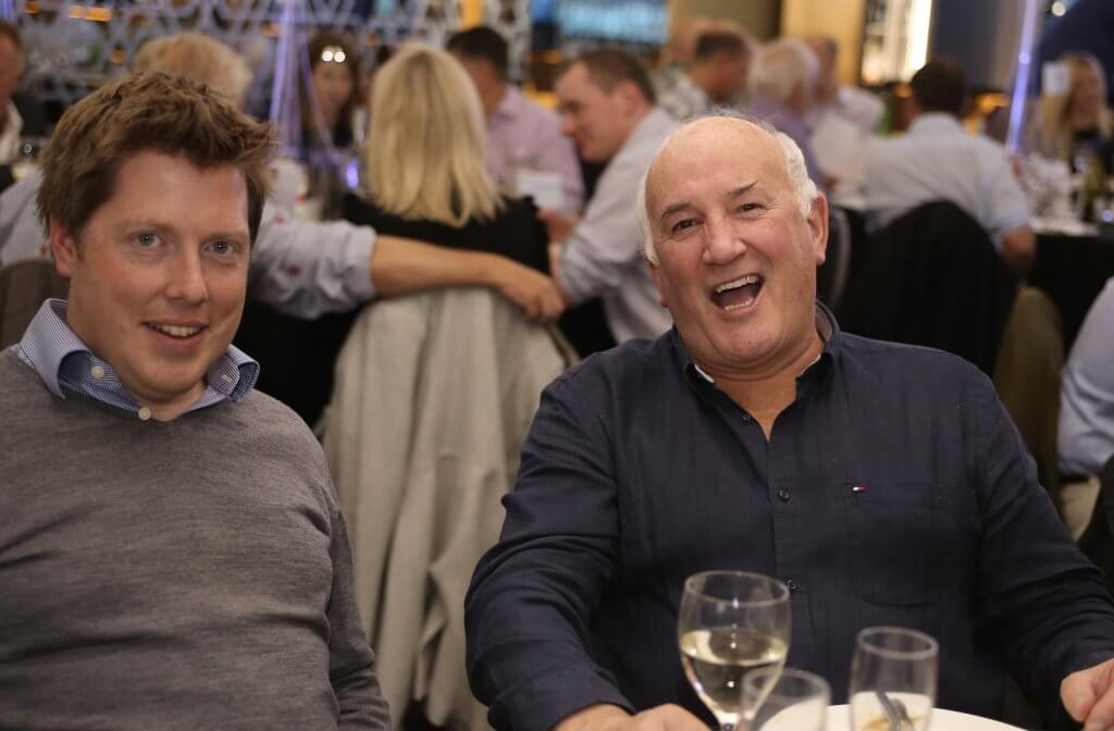 Tom Flockhart (right) of Capital Document Solutions (photo by Terry Murden)