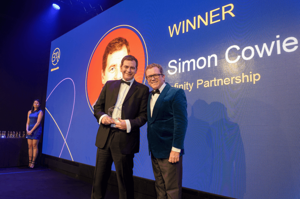 Simon Cowie with Jon Culshaw (photo contributed)