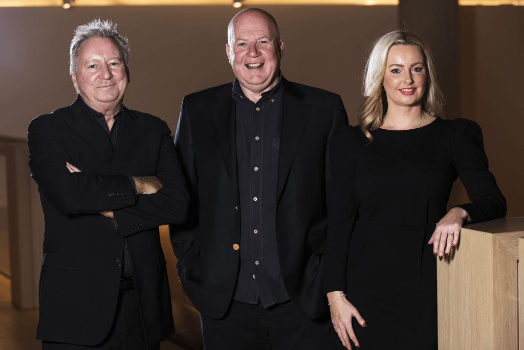 Gordon Beattie, Kevin Roberts and Laurna Woods