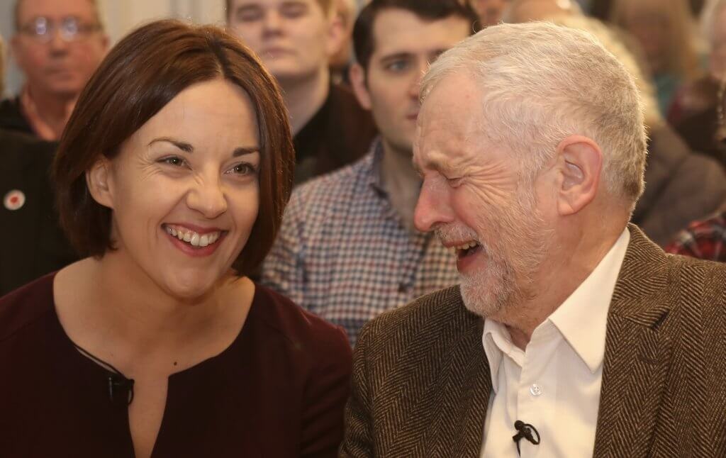 Kezia Dugdale and Jeremy Corbyn