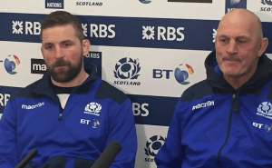 John Barclay and Vern Cotter