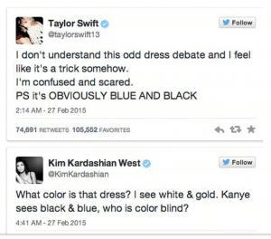 Taylor and Kim Tweets