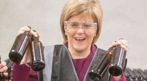 Sturgeon and beer
