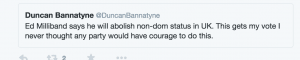 Bannatyne tweet