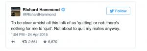 Hammond tweet