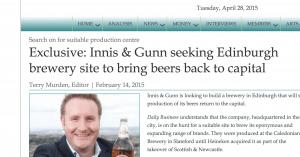 rag-out Innis & Gunn