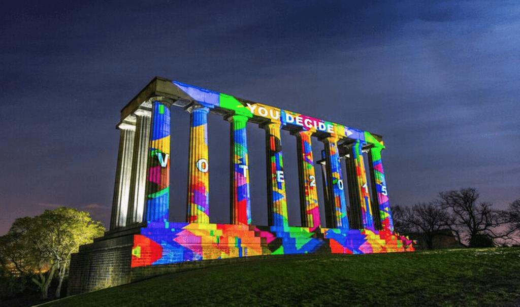 Monument light show 2