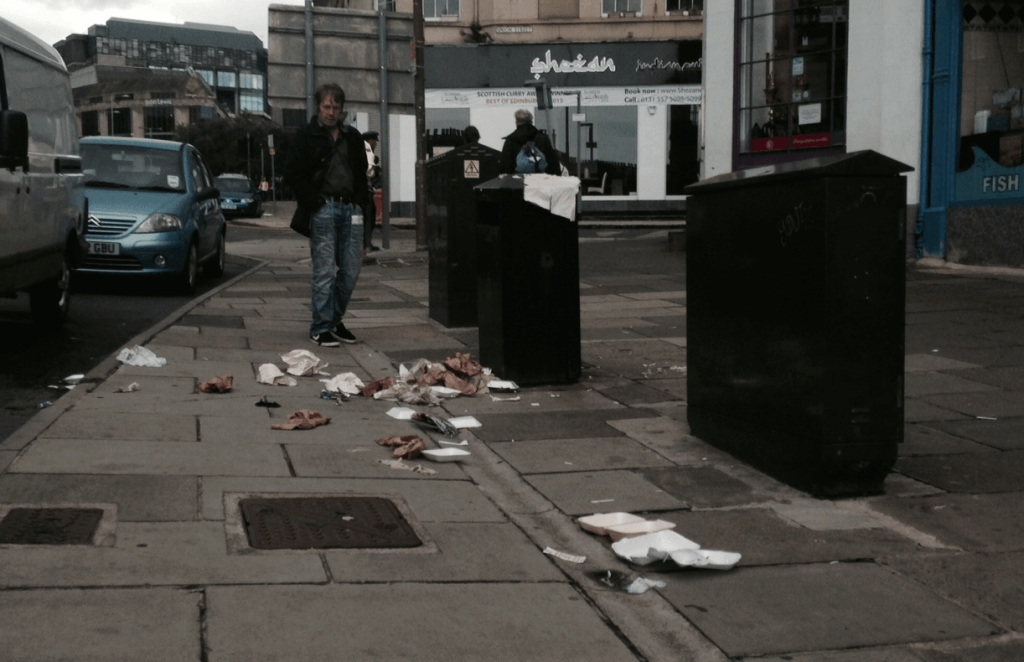 Leith Walk litter 2