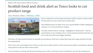Food suppliers rag out
