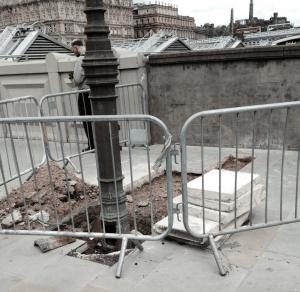ripped up pavement