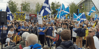 BBC Scotland protests (BBC)