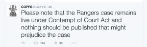 Crown office tweet