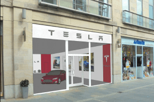 Tesla store Multrees Walk