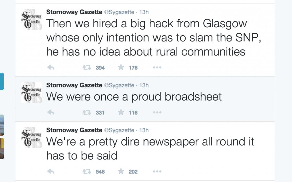 Stornoway Gazette tweets