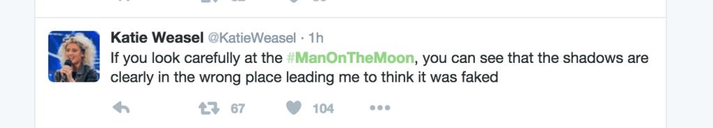 Man on moon tweet 1