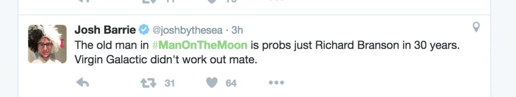 man on moon tweet 2