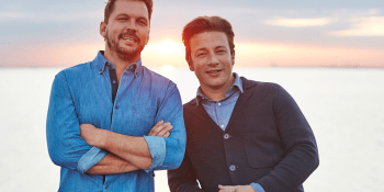 Jimmie and Jamie Oliver