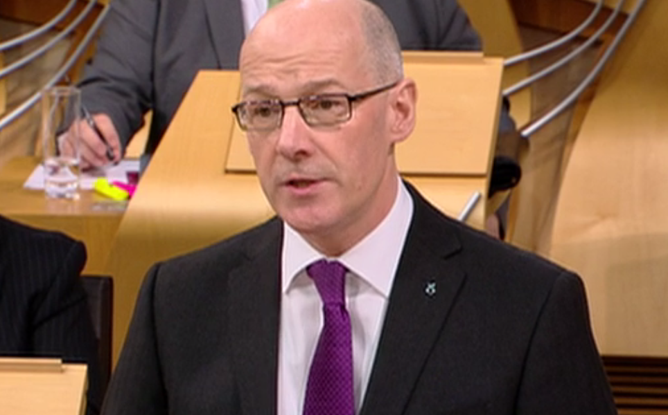 John Swinney delivers Budget