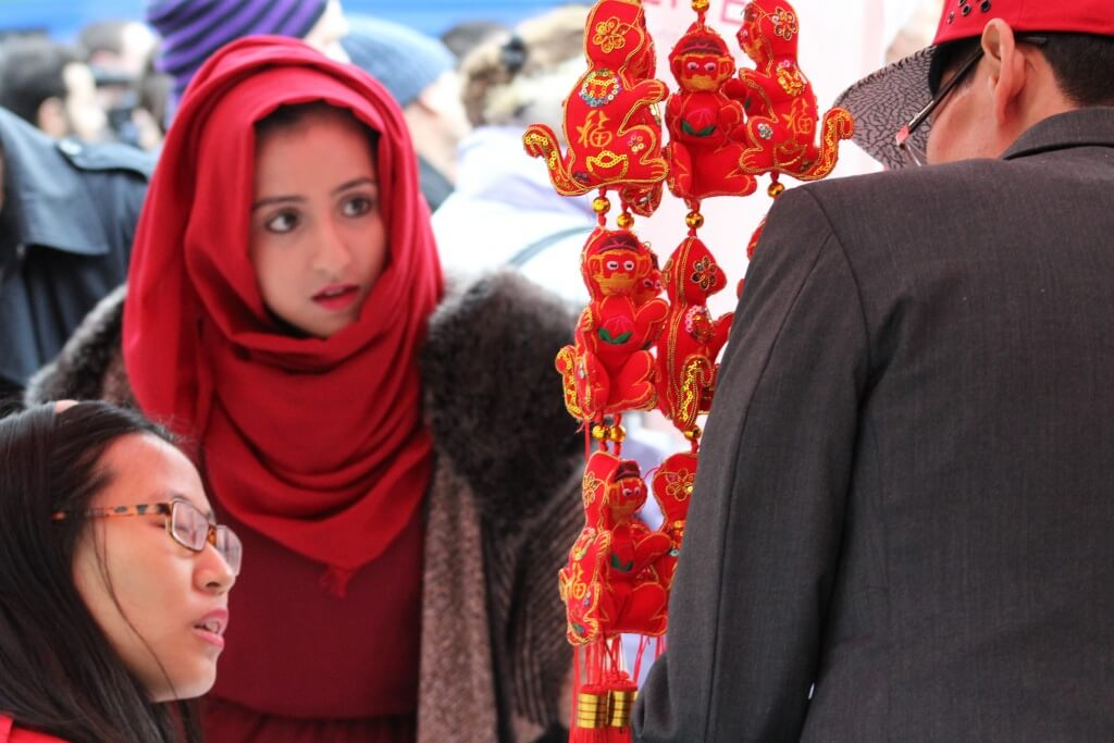 Girl at Chinese market