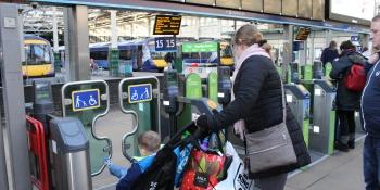 Waverley station passenger ticket gate