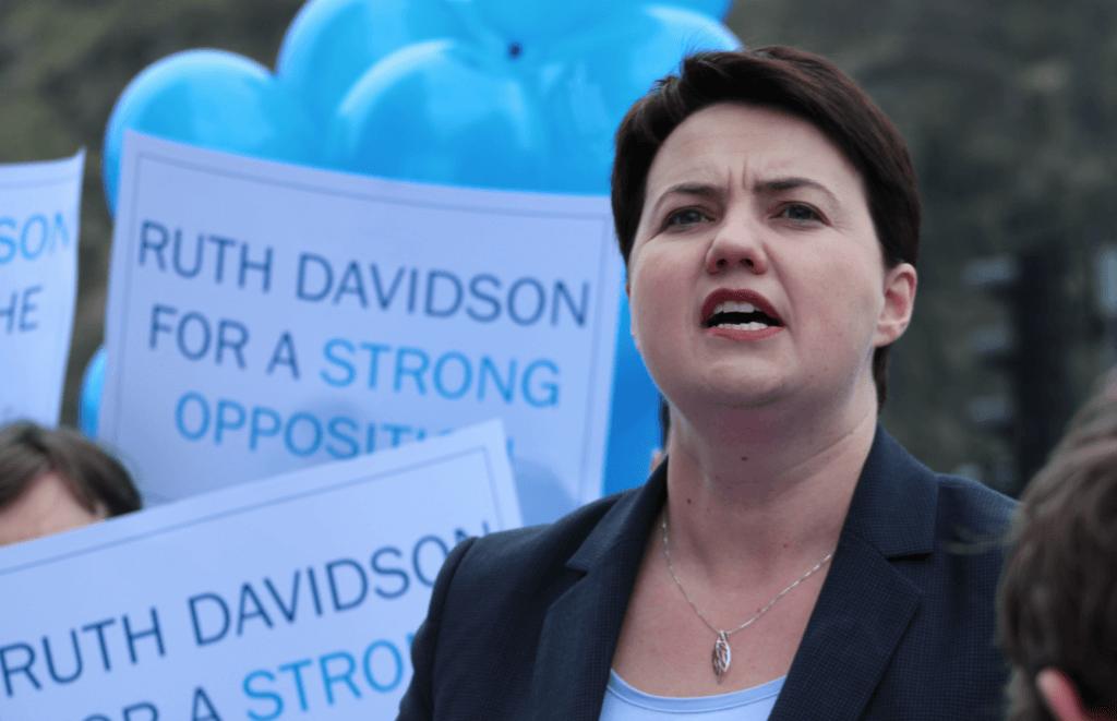 Ruth Davidson at rally