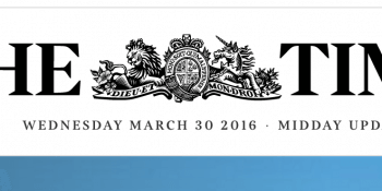 The Times website