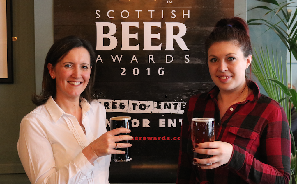 Kirsten Scottish beer awards