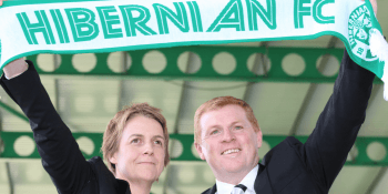 Neil Lennon and Leeann Dempster