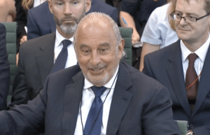 Sir Philip Green Commons 15 June