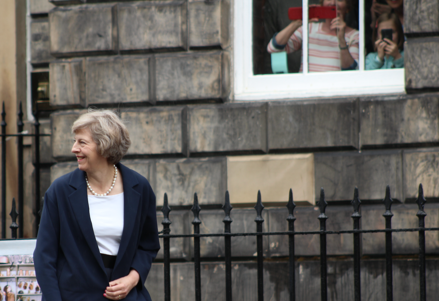 First glimpse...Theresa May arrives at Bute House (pic by Terry Murden)