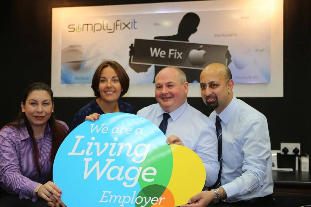 Kezia Dugdale with Scott Wilkinson and colleagues (Photo by Terry Murden)