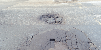 Holes in roads, potholes