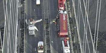 Lorry on Forth Road Bridge