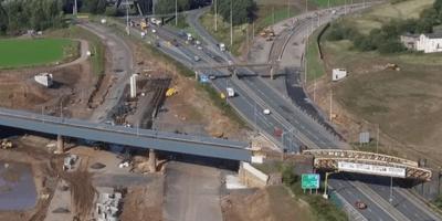 M8 road works