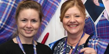 Clare Campbell and Jackie Waring