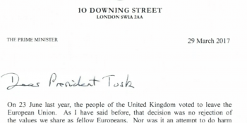 Letter from Downing St