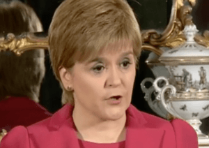 Nicola Sturgeon Bute House 13 March