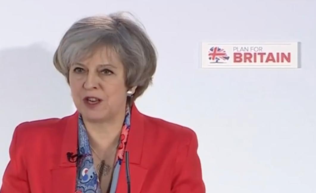Theresa May in Cardiff