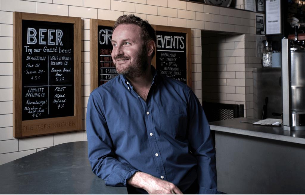 Dougal Sharp at Ashton Lane Beer Kitchen
