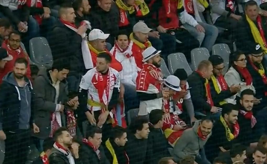 Fans in stadium showed solidarity