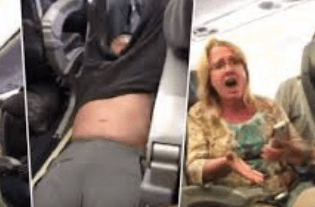 Passenger dragged from seat